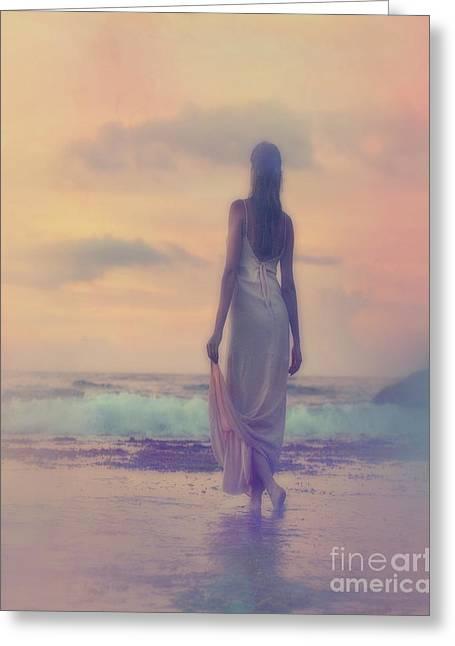 A Walk In The Sea Greeting Card