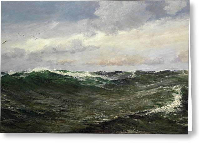 A Waste Of Waters Greeting Card by Charles Napier Hemy