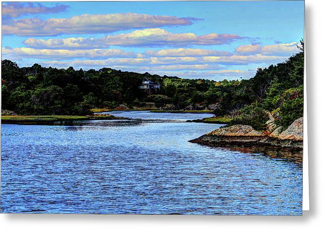Greeting Card featuring the photograph A Water View Newport Ri by Tom Prendergast