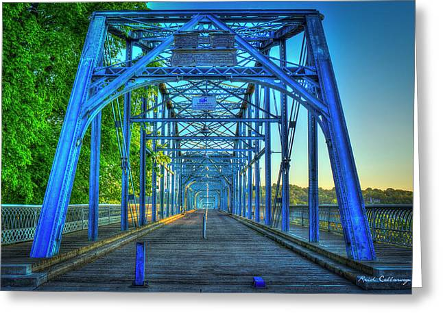 A Way Walnut Street Pedestrian Bridge Chattanooga Tennessee Greeting Card by Reid Callaway