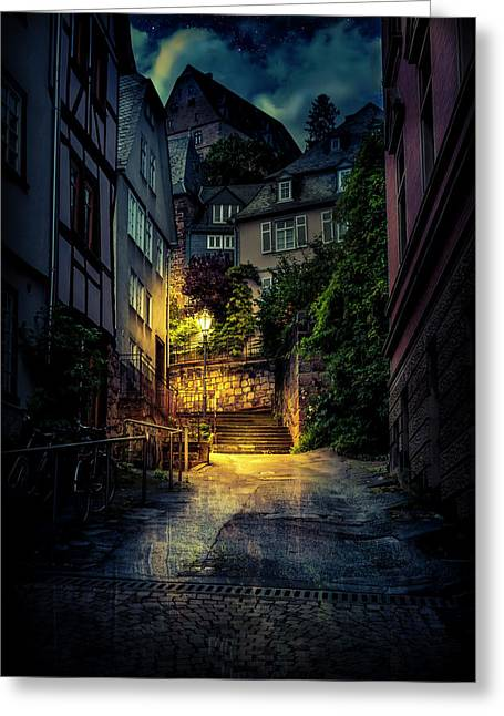 A Wet Evening In Marburg Greeting Card