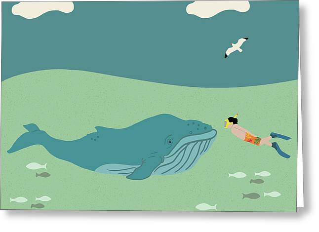 A Whale Of A Tale  Greeting Card