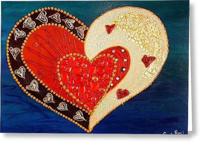 A Whole Lot Of Love Greeting Card by Carole Ray
