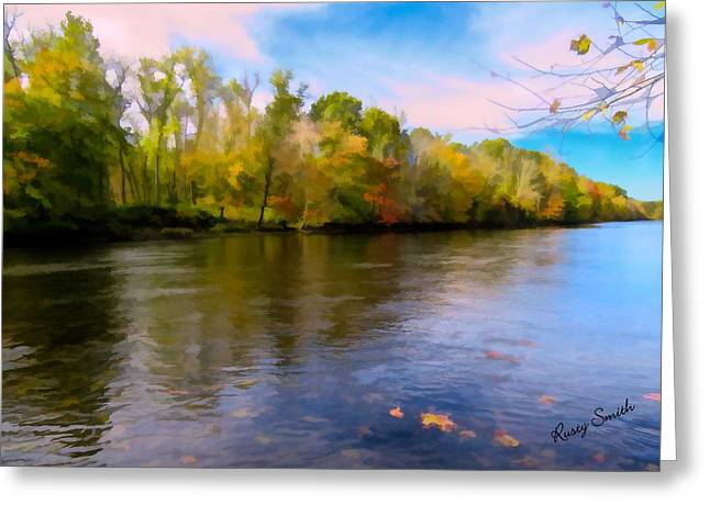 A Wide Scenic View Of Shetucket River. Greeting Card