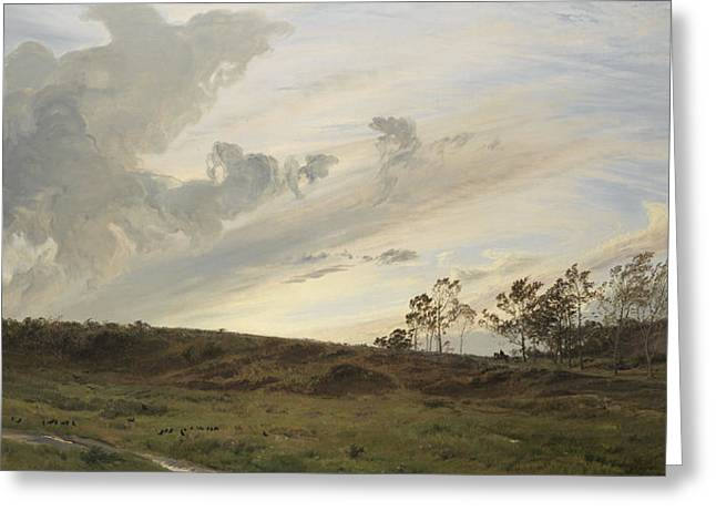 A Wild Evening After Rain, Yorkshire, 1869 Greeting Card