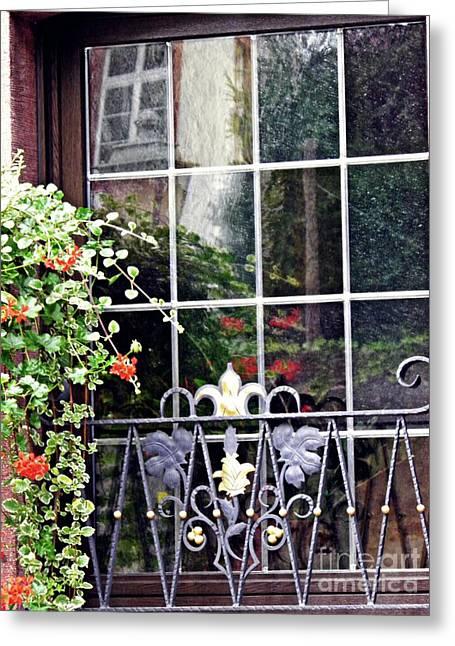 A Window In Rudesheim 2 Greeting Card