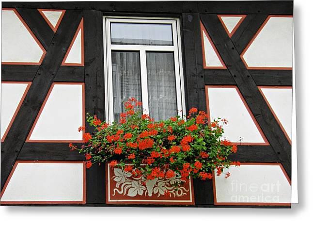 A Window In Rudesheim 3 Greeting Card