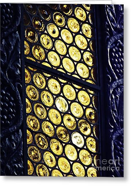 A Window In Rudesheim Greeting Card by Sarah Loft