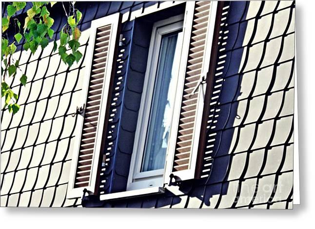 A Window In Schierstein 13 Greeting Card by Sarah Loft