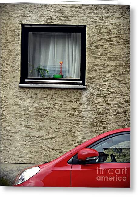 A Window In Schierstein 14 Greeting Card by Sarah Loft