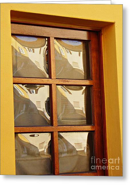 A Window In Schierstein 4 Greeting Card by Sarah Loft