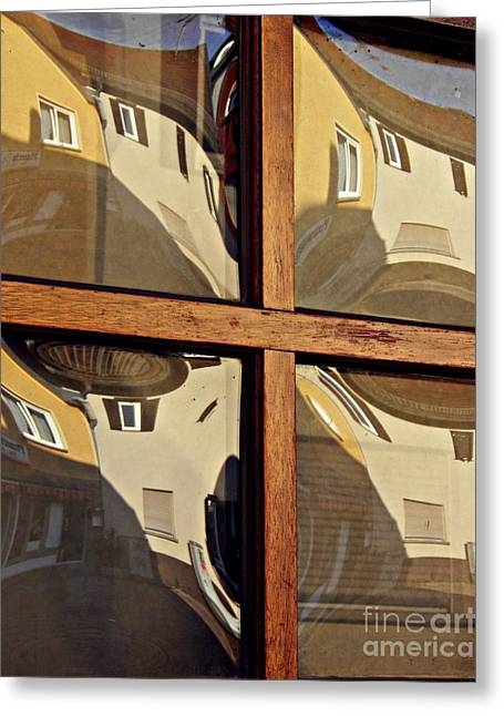 A Window In Schierstein 5 Greeting Card by Sarah Loft