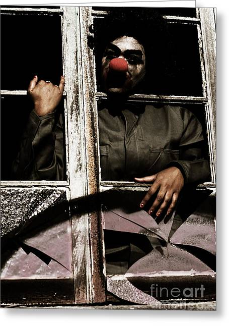A Window To Nightmares Greeting Card by Jorgo Photography - Wall Art Gallery