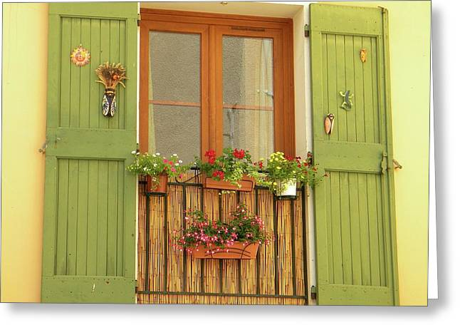 A Window To...provence Greeting Card