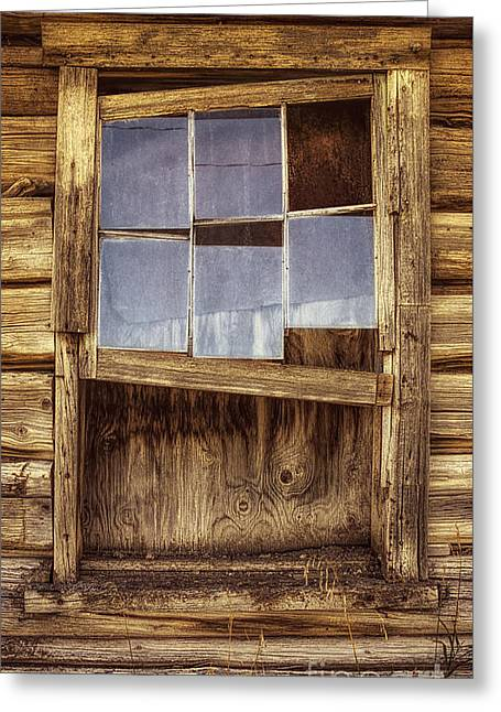 A Window Without A View Greeting Card by Priscilla Burgers