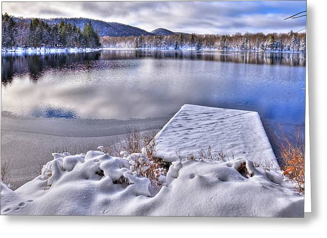 Greeting Card featuring the photograph A Winter Day On West Lake by David Patterson