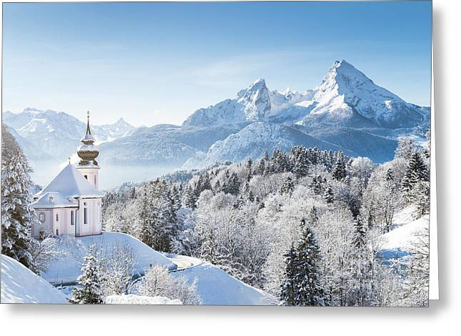 A Winter Fairytale Greeting Card by JR Photography