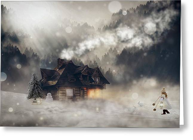 A Winter Fantasy Greeting Card by Pixel2013