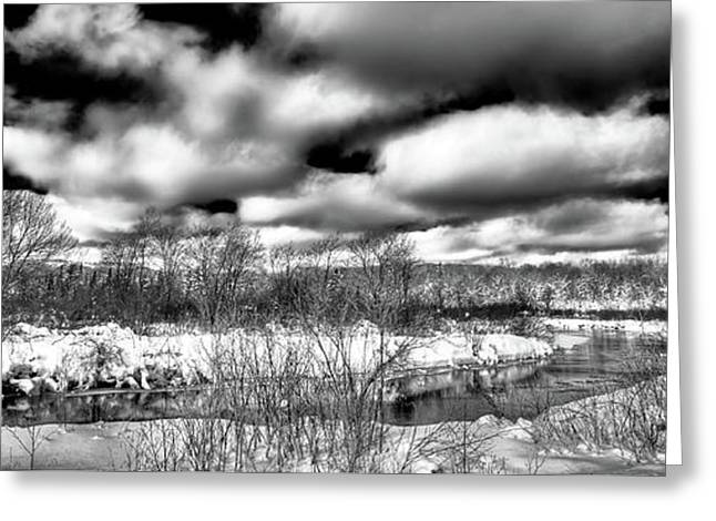Greeting Card featuring the photograph A Winter Panorama by David Patterson
