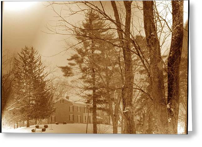 Greeting Card featuring the photograph A Winter Scene by Skyler Tipton