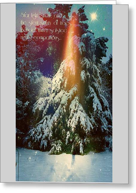 A Winter Solstice Night's Dream Greeting Card by ARTography by Pamela Smale Williams