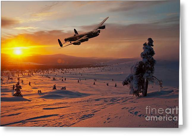 A Winter Sortie Greeting Card