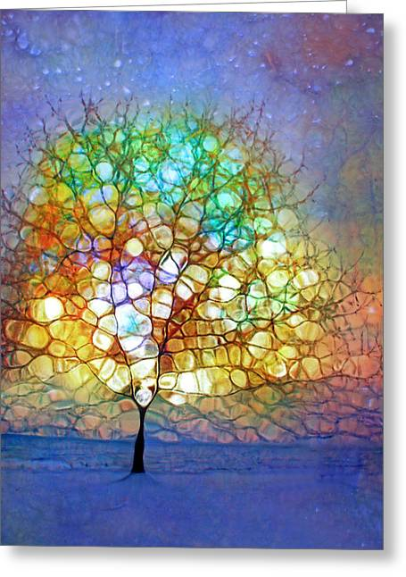 A Winter Tree Ballad Greeting Card by Tara Turner