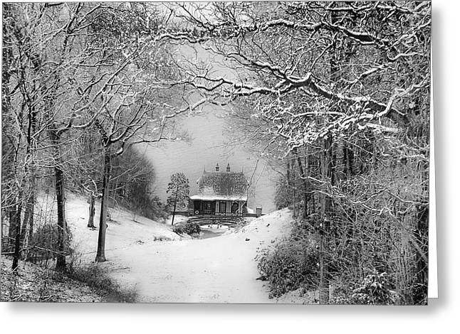 A Winter's Tale In Centerport New York Greeting Card