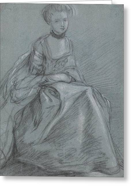 A Woman Seated  Greeting Card