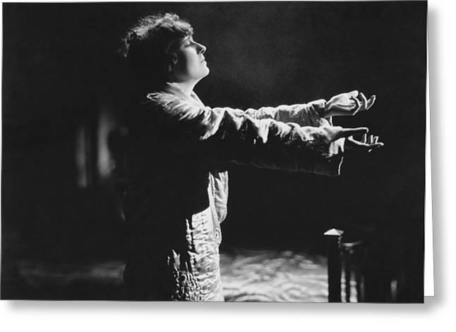 A Woman Sleep Walking Greeting Card
