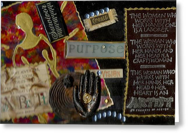 Bible Mixed Media Greeting Cards - A Woman with PURPOSE Greeting Card by Angela L Walker