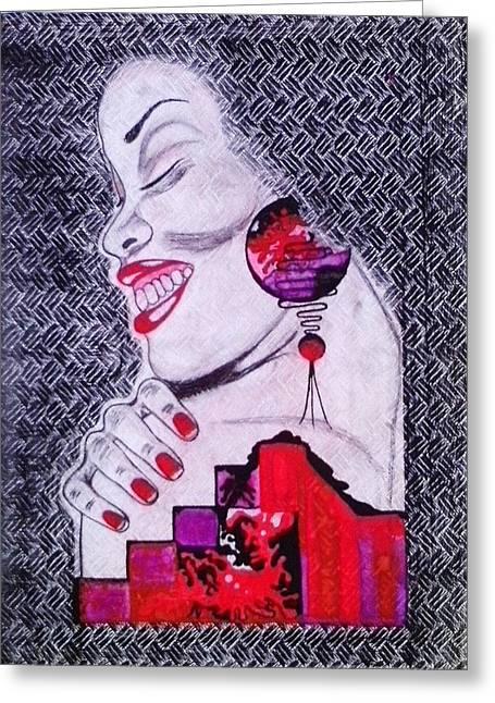 A Womans World Greeting Card by Eziagulu Chukwunonso Innocent