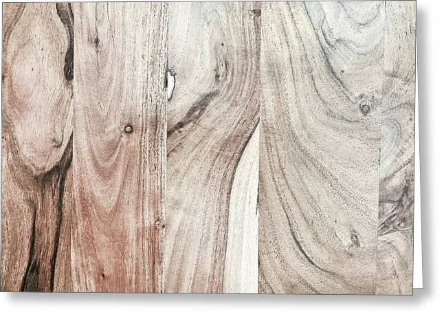 A Wood Surface Greeting Card by Tom Gowanlock