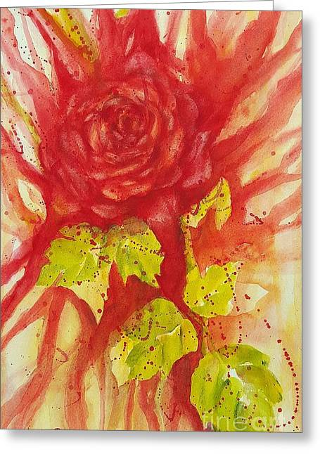 A Wounded Rose Greeting Card