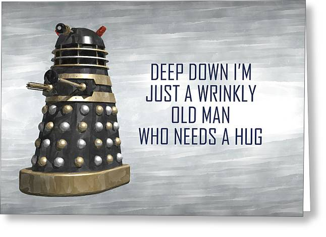 A Wrinkly Old Man Who Just Needs A Hug Greeting Card