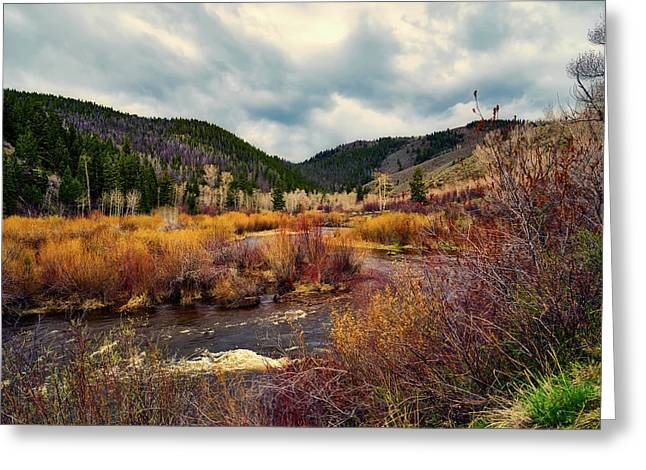 A Wyoming Autumn Day Greeting Card by L O C