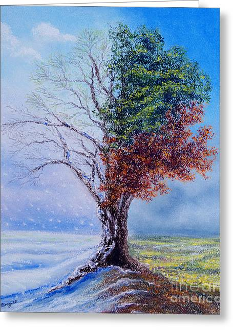 A Year In The Tree Of Life Greeting Card by Stanza Widen