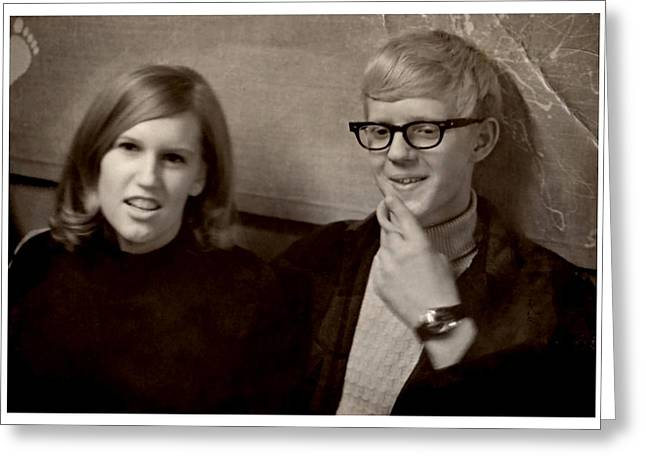 A Young 60's Couple Greeting Card by Kyle West