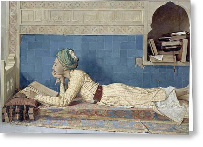 A Young Emir Greeting Card by Osman Hamdi Bey