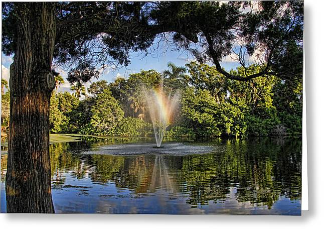 A Zen Oasis By H H Photography Of Florida Greeting Card by HH Photography of Florida