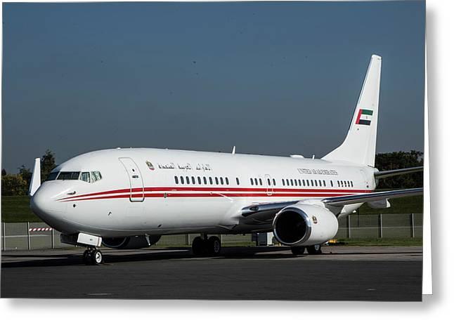 A6-heh Dubai Air Wing Royal Flight Boeing 737-8aj-bbj2 Greeting Card