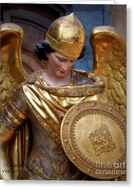 Archangel Michael Greeting Card by Lainie Wrightson