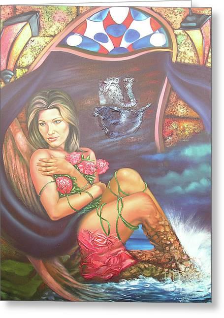 Abana Travel Greeting Card by Jorge L Martinez Camilleri