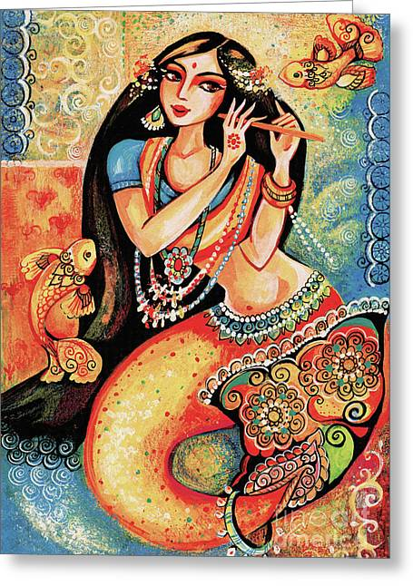 Aanandinii And The Fishes Greeting Card
