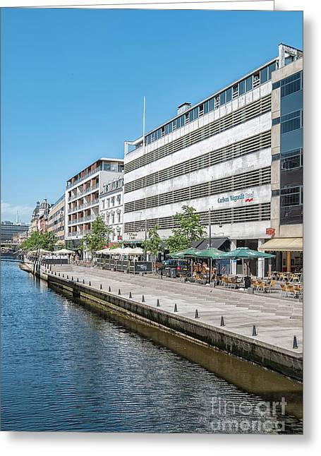 Aarhus Canal Scene Greeting Card by Antony McAulay
