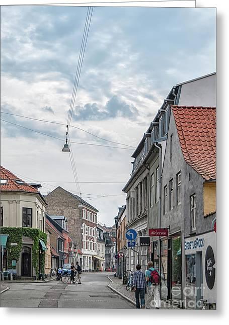 Aarhus Urban Scene Greeting Card by Antony McAulay