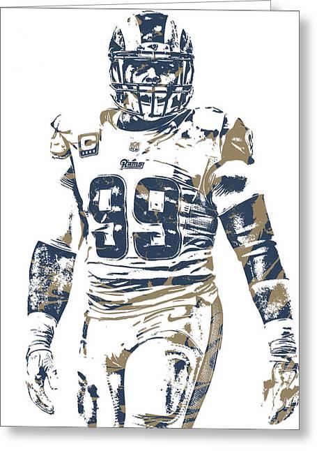 Aaron Donald Los Angeles Rams Pixel Art 10 Greeting Card