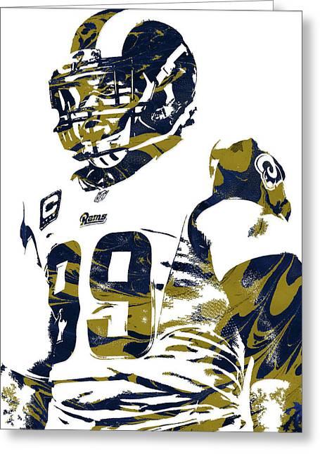 Aaron Donald Los Angeles Rams Pixel Art Greeting Card