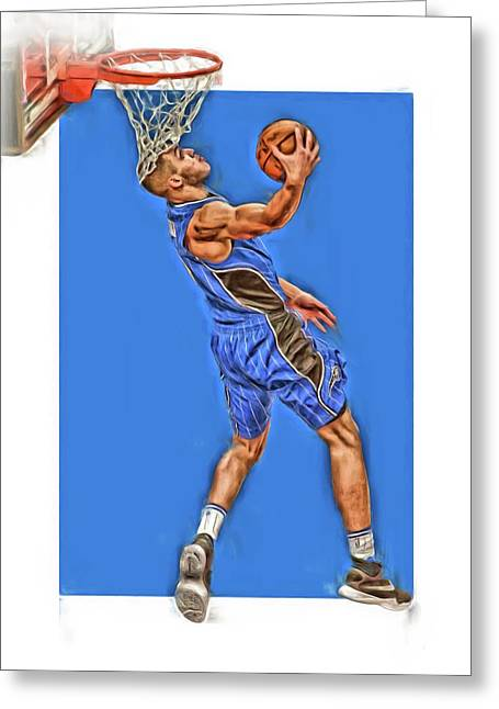Aaron Gordon Orlando Magic Oil Art Greeting Card by Joe Hamilton