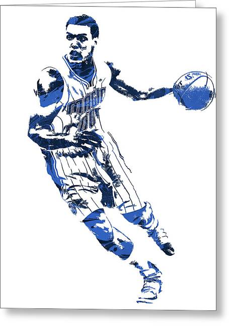 Aaron Gordon Orlando Magic Pixel Art 1 Greeting Card